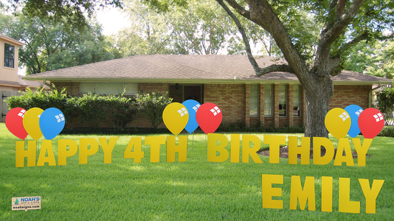 Fill Out The Form Below To Reserve Your Happy Birthday Yard Greeting