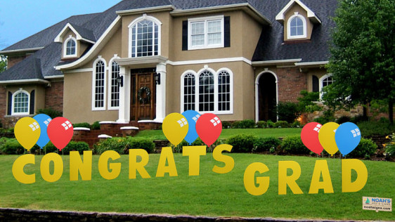 congrats grad  yard greeting