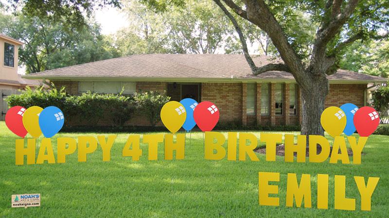 birthday yard signs Happy Birthday Yard Signs birthday yard signs
